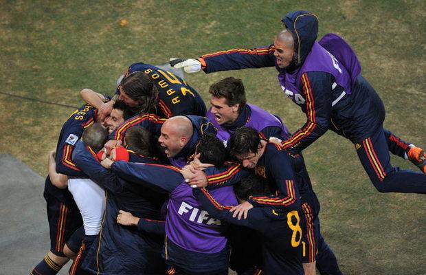 Iniesta, autor del gol de victoria