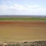 Vista de monte regado por elevación de aguas