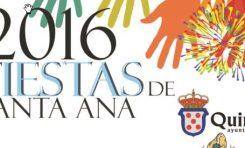 Fiestas Santa Ana 2016. Programa completo.
