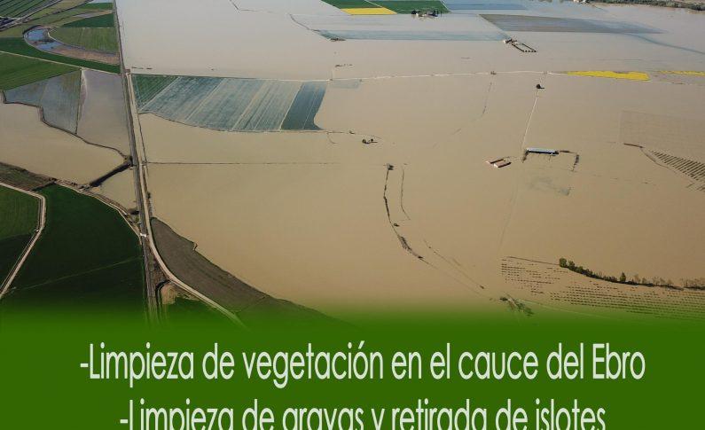 Quinto recoge firmas para limpiar el Ebro